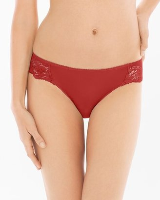 Soma Intimates Microfiber with Lace Bikini