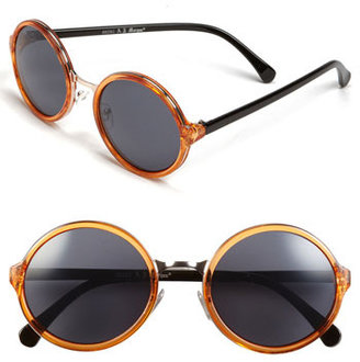 A.J. Morgan 52mm Retro Round Sunglasses Orange One Size