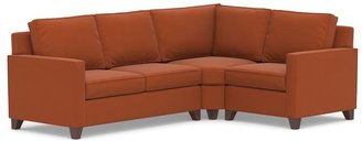 Pottery Barn Cameron Square Arm Upholstered 3-Piece Sectional with Wedge