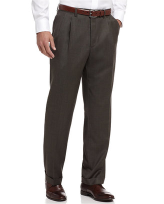 Lauren Ralph Lauren Pleated Olive Sharkskin Dress Pants $150 thestylecure.com