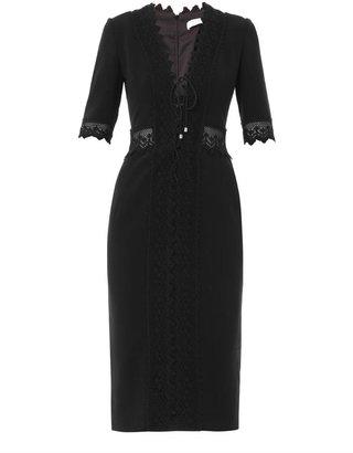 Altuzarra Crochet trim fitted dress