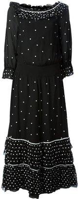 Chanel floral embellished maxi dress