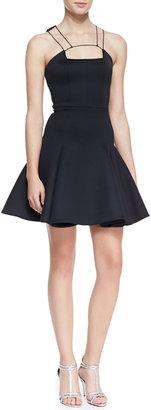 Cushnie et Ochs String-Strap-Detail Flounce Dress