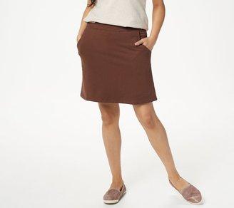 Denim & Co. Essentials Pull-On Knit Skort with Pockets