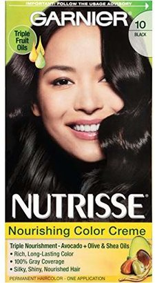 Garnier Nutrisse Nourishing Color Creme, 10 Black (Licorice) (Packaging May Vary) $7.99 thestylecure.com