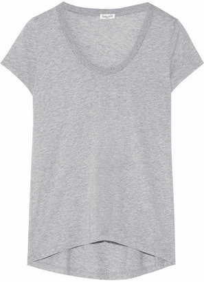 Splendid - Cotton And Modal-blend Jersey T-shirt - Gray $55 thestylecure.com