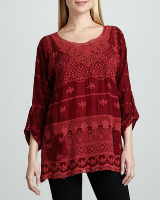 Johnny Was Collection Hannah Lacy Tunic, Women's