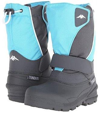 Tundra Boots Kids Quebec Medium (Toddler/Little Kid/Big Kid) (Teal/Grey) Kid's Shoes