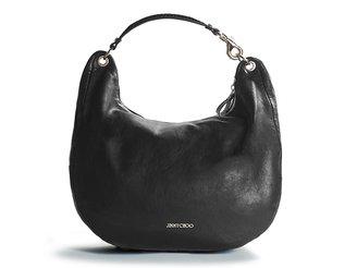 Jimmy Choo Solar Leather Hobo - Black