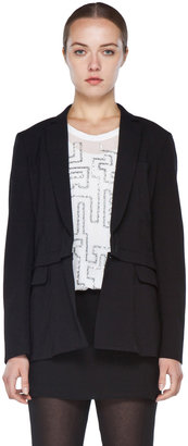 3.1 Phillip Lim Blazer with Detachable Lower Panel in Black