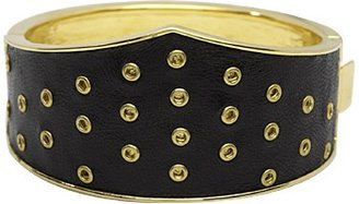 House Of Harlow Black Leather Triangle Cuff
