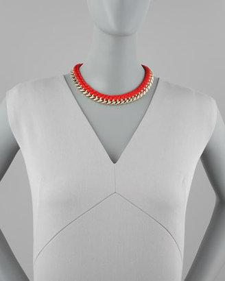 Aurelie Bidermann Braided Chain Necklace, Red