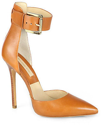 Michael Kors Adelaide Leather Ankle-Strap Pumps