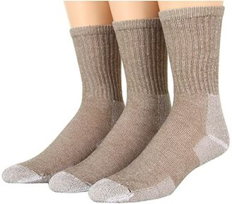 Thorlos Ultra Light Hiking Crew 3-Pair Pack (Cornstalk Brown) Crew Cut Socks Shoes