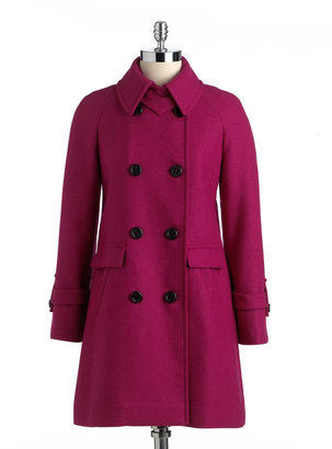 Trina Turk Double-Breasted Peacoat