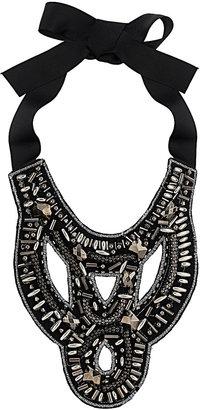 Wallis Black Cut Out Bead Collar
