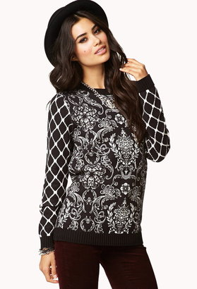 Forever 21 Baroque Print Sweater