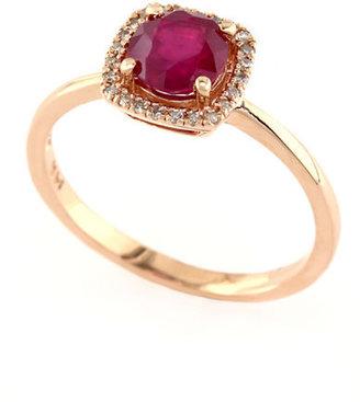 EFFY Rosa 14Kt. Yellow Gold, Ruby & Diamond Ring