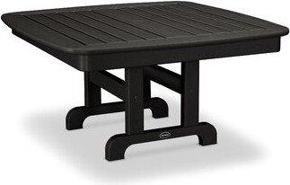"Polywoodâ® Nautical Chat Table POLYWOODA Finish: Black, Table Size: 37"""