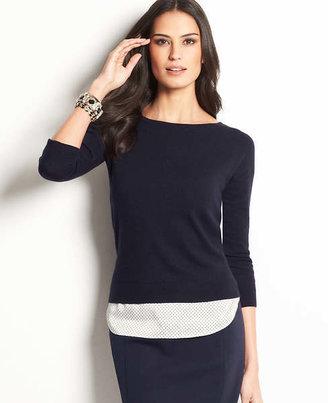 Ann Taylor Tall Tandem Open Back Sweater