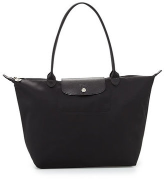 Longchamp Le Pliage Néo Large Nylon Tote Bag, Black $190 thestylecure.com