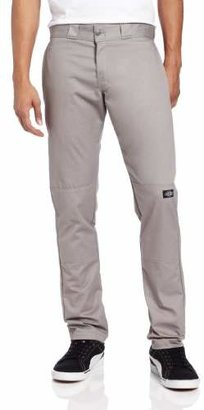 Dickies Men's Skinny Straight Double Knee Work Pant, Silver Gray, 32x32