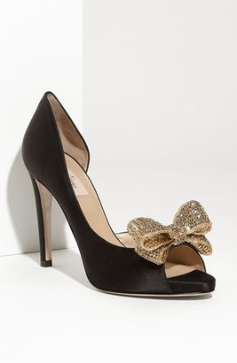 Valentino Jewelry Couture Bow d'Orsay Pump