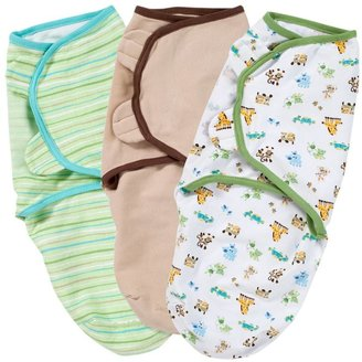 Summer Infant SwaddleMe Cotton Knit 3 Pk - Girl Prints/Solid - Small/Medium