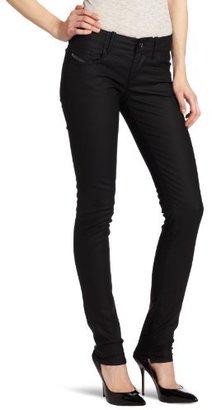Diesel Women's Grupee Super Skinny Leg Jean 0068K in Black