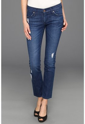 James Jeans Ritchie Slim Leg Clam Digger in Moody Blue