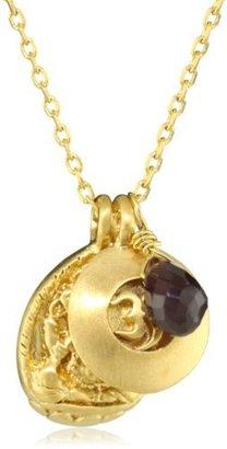 Satya Jewelry Red Garnet Triple Pendant Necklace