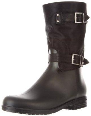 dav Women's Ashley Mid Nylon Solid Rain Boot