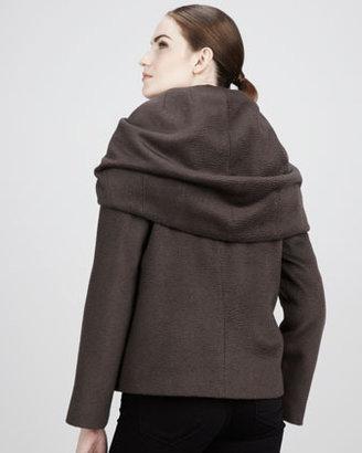 Elie Tahari Alice Shawl-Collar Coat