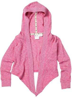 Roxy Kids - Be Cool Cardigan (Toddler/Little Kids) (Fuchsia Knit) - Apparel