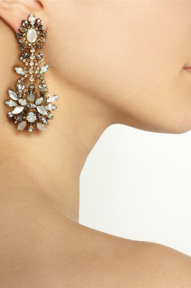 Swarovski Whiter Shade of Pale gold-plated crystal earrings