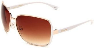 UNIONBAY Union Bay Women's U473 Combo Oversized Sunglasses,Gold Frame,Brown Gradient Lens,One Size