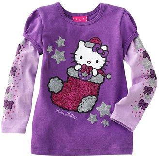 Hello Kitty mock-layer stocking tee - toddler