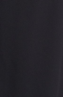 Donna Ricco Faux Leather Trim Sheath Dress