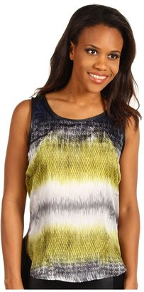 Kenneth Cole New York - Fusion Striped Tank (Citron Combo) - Apparel