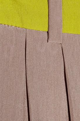 Matthew Williamson Brushed-silk wide-leg pants