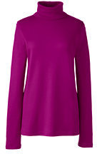 Lands' End Women's Tall Shaped Supima Turtleneck-Rich Sapphire $29.50 thestylecure.com