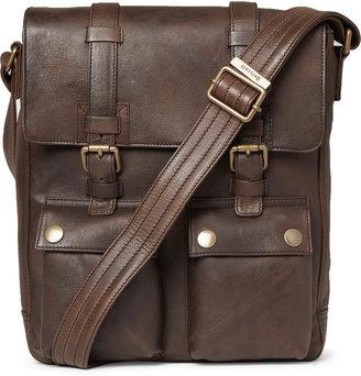 Belstaff Leather Messenger Bag