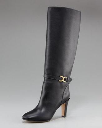 Chloé Marcie-Buckle Calfskin Boot