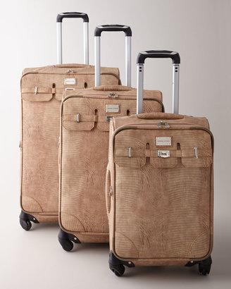 """Adrienne Vittadini Embossed Lizard"""" Luggage"""