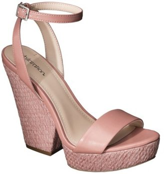 Xhilaration Women's Tammy Plank Wedge Sandal - Pink