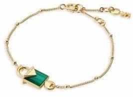 Michael Kors Sterling Silver Agate Chain Bracelet