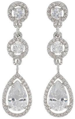 Kenneth Jay Lane Linear Triple Drop Earrings