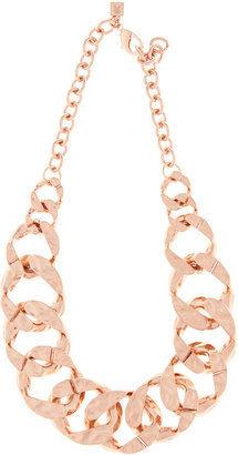 Reiss Lorita HAMMERED LINK NECKLACE
