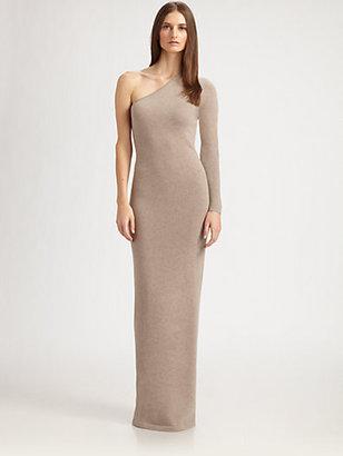 Ralph Lauren Black Label Asymmetrical Cashmere Gown