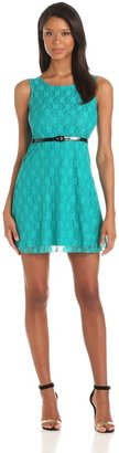 Star Vixen Women's Sleeveless Knit Skater Dress